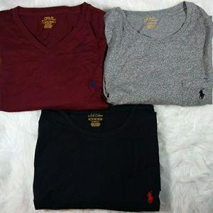 3 Polo Ralph Lauren Mens XL S/S Classic T Shirts.